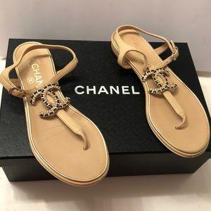 100% Authentic CHANEL Sandals (36)